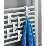 Wenko Lot de 6crochets porte-serviettes pour radiateur Blanc