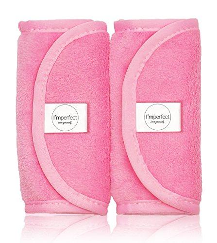 Make-Up Entferner Tuch im 2er Set EXTRA WEICH - Mikrofaser Abschminktücher entfernt Makeup nur mit Wasser [40x18cm, pink]