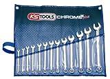 KS Tools 518.0643 CHROMEplus Ringmaulschlüssel-Satz, abgewinkelt, 13-tlg.