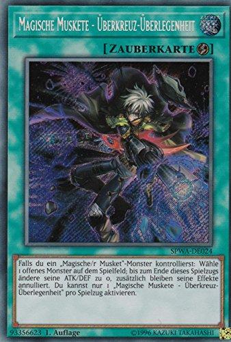 SPWA-DE024 - Magische Muskete - Überkreuz-Überlegenheit - Secret Rare - Yu-Gi-Oh - Deutsch - 1. Auflage - LMS Trading