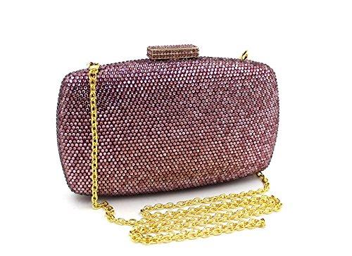 WYB LuxuxRhinestone Abendtasche / Kupplung / hochwertigen Diamant / Abendtasche / Schulter diagonal Paket Ms. lila