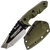 HX OUTDOORS Premium Qualität Überlebensmesser,Companion Messer, Outdoor Survival Messer, Jagdmesser, Hergestellt aus D2 Stahl und G10 ergonomischen rutschfesten Griffen,Qualität tolles Geschen (MERCENARIES MINI)