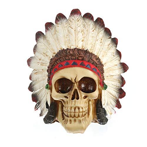 Resin skull Têtes de Mort Indiennes décoration de Bureau Articles d'ameublement