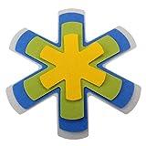 MACOSA HOME Pfannen-Schutz Set Filz und Kunststoff 4er Set / WASCHBAR UND LEBENSMITTELECHT ! SPAR-SET Universal-Größe 38 cm. Zuschneidbar. Extra weich, Anti-Rutsch-Rückseite / Pfannen-Schutz, Pfannen-Schoner, Stapelhilfe, Schutz vor Kratzern, Pfannen-Einleger