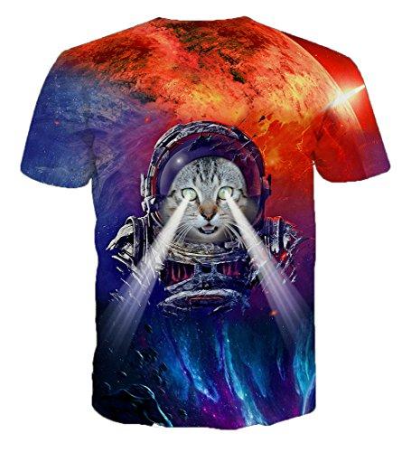 Yonbii  Herren T-Shirt Muticoloured-G