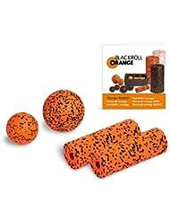 Blackroll Orange (Das Original) - DIE Selbstmassagerolle - ZUBEHÖR-SET inkl. Übungsbooklet