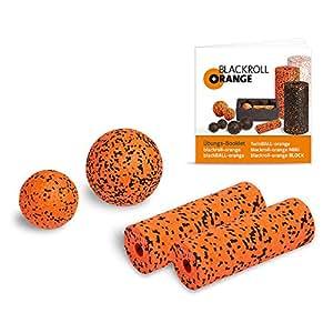 Blackroll Orange (L'Original) - LE rouleau d'automassage - LOT D'ACCESSOIRES avec livret d'exercices