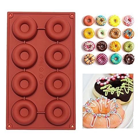 Bluelover Diy Moule À Donuts En Silicone Gâteau Chocolat Cookies Moule De Cuisson