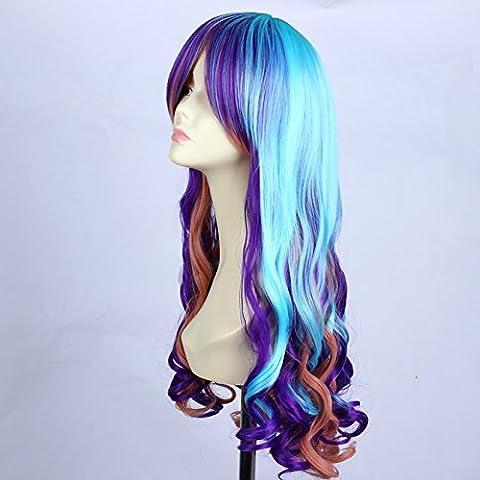 Morbuy Ladies hair schöne lang wellige Harajuku Stil Lolita Cosplay Perücke Damen Perücke Kunsthaar Lang Gelockt Welle Wigs Sexy Lange