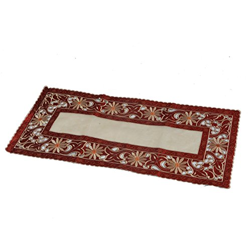 Kuber Industries™ Table Runner in Soft Cloth (Embroidry) Maroon-KI19401  available at amazon for Rs.399