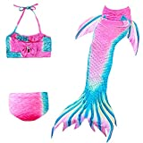 Das beste Mädchen Meerjungfrauen Bikini Kostüm Meerjungfrau Schwimmanzug Badeanzüge Tankini (140, 23)
