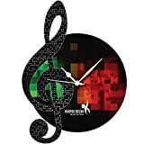 Hoopoe Decor Music 3 Designer Wall Clock