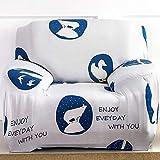 SSDLRSF Universalgröße 1/2/3/4 Sitzer Stretch-Sofabezug Druck Blume Sofa deckt Überzüge Couch Abdeckung Möbel Wohndekorationen (90-300cm), 6401,1 Sitzer 90-140cm