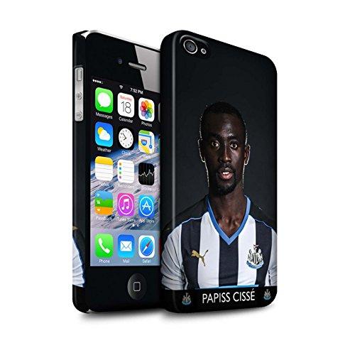 Officiel Newcastle United FC Coque / Clipser Matte Etui pour Apple iPhone 4/4S / Saivet Design / NUFC Joueur Football 15/16 Collection Cissé