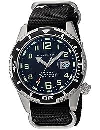 Momentum M50Mark II 'de los hombres de cuarzo acero inoxidable y nailon reloj de buceo, color: negro (modelo: 1m-dv52b7b)