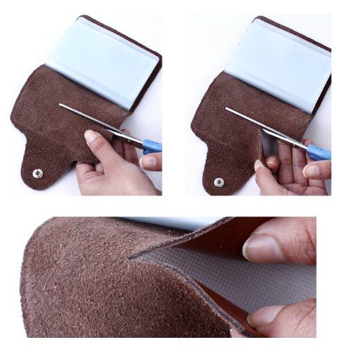 MYLB LEDER KREDITKARTENETUI KARTENETUI VISITENKARTENETUI mit Platz für 26 Kreditkarten bei Doppelbelegung mit Karten (QGY-BK) grün