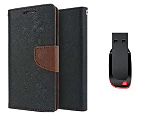 TOS Premium combo of Flip cover and 4GB Pendrive for Nokia XL