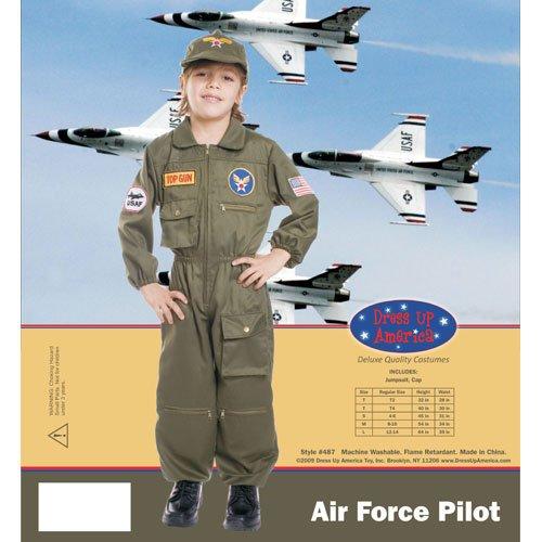 Imagen de dress up america  piloto de las fuerzas aéreas, disfraz para niños, 1 2 años 487 t2  alternativa