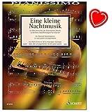 Une petite Musique de Nuit-60chefs-d' œuvre de la musique classique dans bearbeitungen légers pour Piano-Vivaldi, Bach, HAYDN, MOZART.-avec cœur Note colorée Pince...