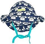 loud + proud Baby - Jungen Sonnenhüte Outdoorhut, Animalprint, Gr. 43/45 (62/68), Blau (ultramarin) Ul)