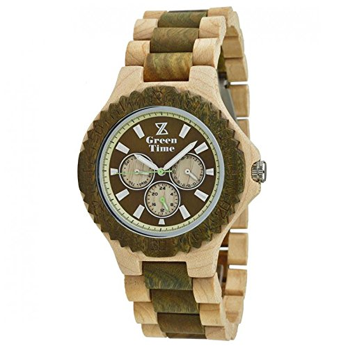 Herren Multifunktions Armbanduhr Green Time Kollektion Multifunktionsgerät Trendy Cod. zw014b
