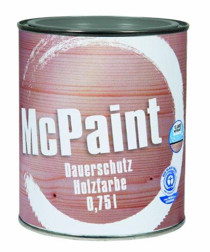 McPaint Wetterschutzfarbe - Holzfarbe für außen auf Acryl Basis mit langanhaltendem Wetterschutz, PU-verstärkt, Möbellack, seidenmatt, 0,750L, Silbergrau - Weitere Farbtöne verfügbar