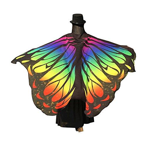 g Flügel Strandtuch Schal für Frauen Mädchen Weihnachten Halloween-Umhang, Polyester, grün, 197cm x 125cm ()