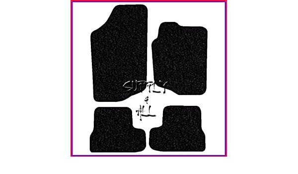 06/> Peugeot 207 Tailored Black Carpet Car Floor Mats with Red Trim /& Heel Pad
