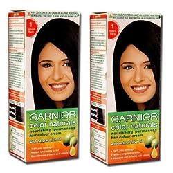 Garnier Color Naturals Natural Black - Shade 1 (Pack of 2)