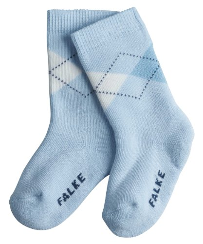 FALKE Unisex-Baby Söckchen 10355 Argyle SO, Gr. 80/92, Blau (powderblue 6250) (Socken Fashion Argyle)