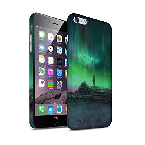 Offiziell Chris Cold Hülle / Matte Snap-On Case für Apple iPhone 6S+/Plus / Pack 12pcs Muster / Fremden Welt Kosmos Kollektion Polarlicht