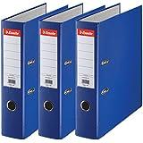Esselte 624291 -  Archivador con anillas (Capacidad 550 hojas, 3 unidades), azul, 70 mm