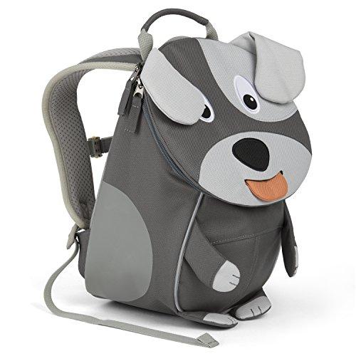 Affenzahn Kinder-Rucksack mit Brustgurt für 1-3 jährige Jungen und Mädchen im Kindergarten Oder Kita der Kleine Freund Hugo Hund - Braun