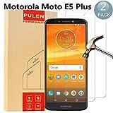 [2 Stück] Motorola Moto E5 Plus Panzerglas Schutzfolie, PULEN 9H Härtegrad Glasfolie Folie Displayschutzfolie [Anti Fingerabdruck] [Anti-Kratzen] [Blasenfrei] für Motorola Moto E5 Plus