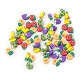 Lovely 50 pezzi, a forma di matita, per cancellare di cancelleria per bambini, confezione regalo
