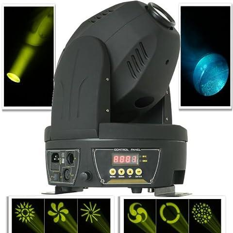 Beamz MHL-60 Effets lumineux DJ - Projecteur à tête rotative (contrôle 12 canaux DMX ou commande musicale)