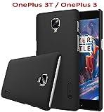 OnePlus 3T / OnePlus 3 Hülle, SMTR Premium Qualität Harte Schale Ultra Slim Schutzhülle +1 Film Displayschutzfolie für OnePlus 3T / OnePlus 3 Smartphone,(Schwarz)
