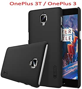 SMTR per OnePlus 3 Custodia,guscio duro Frosted OnePlus 3 PC Cover +1 Screen Protector,(nero)