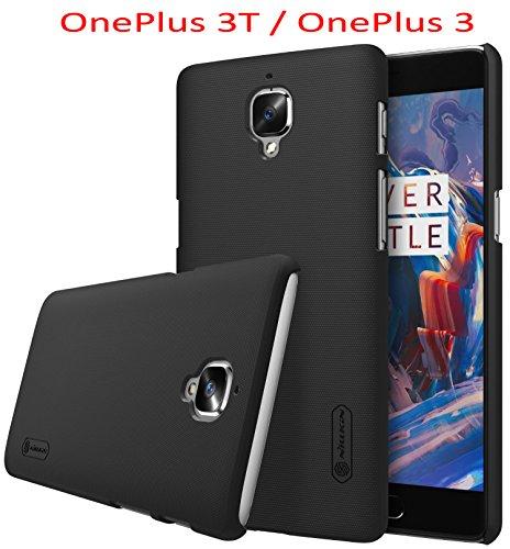 OnePlus 3T / OnePlus 3 Hülle, SMTR Premium Qualität Harte Schale Ultra Slim Schutzhülle +1 Film Bildschirmschutzfolie für OnePlus 3T / OnePlus 3 Smartphone,(Schwarz)