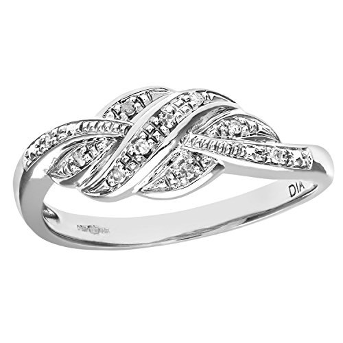 Naava Women's 9 ct White Gold Fancy Diamond Ring