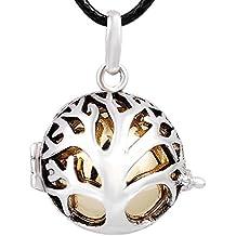 Eudora Harmony Árbol de la vida carillón Ball Collar colgante para las mujeres Bonito regalo