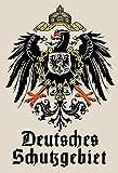 Deutsches Schutzgebiet wappen mit Adler schild aus blech, metal sign, tin