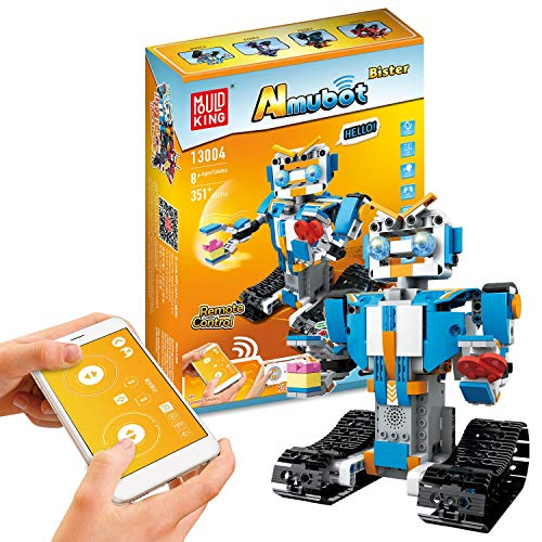GYFY Kleine Partikel Intelligenz Baustein Roboter Kinder elektrische Fernbedienung Puzzle Spielzeug zusammenbauen,C