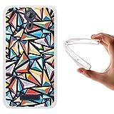 WoowCase Acer Liquid Zest Plus Hülle, Handyhülle Silikon für [ Acer Liquid Zest Plus ] Bunte Dreiecke Handytasche Handy Cover Case Schutzhülle Flexible TPU - Transparent