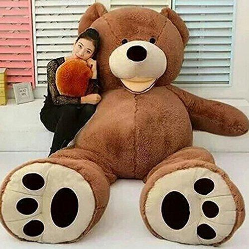 VERCART Groß Teddybär Spielzeug Kuscheltier Gigantischer Puppe Weiches Plüsch als Geschenk Geburtstagsgeschenk zur Dekoration Erwachsene Kinder Braun 160CM