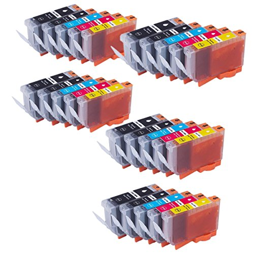 5 Couleur No-Name Remplacer Cartouches d'encre pour Canon PGI 5BK CLI 8BK PGI-5BK Pgi-8bk Cli-5 CLI-8 PGI5BK Pixma MP530 MP600 MP600R MP800MP800R MP810 MP830 MP950 MP960 (5Lot de 25Lot)