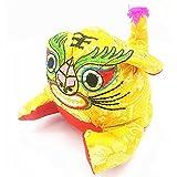 Muñeca Hecha Mano del Regalo Cumpleaños Niños, Tela Tradicional China Bordado Punto Juguetes Hechos Mano del Tigre,Yellow