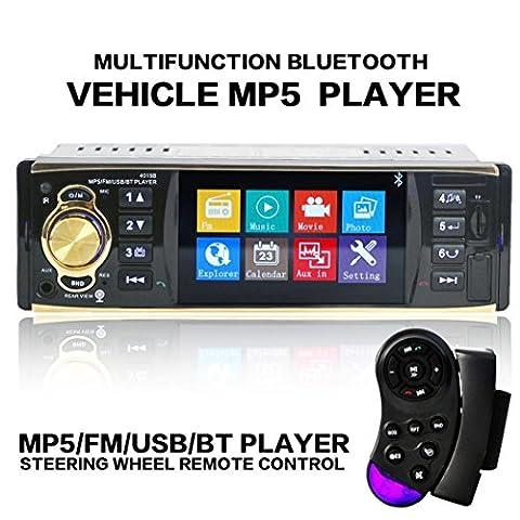 Auto Stereo Audio - Kingwo Car MP3 Radio 4.1 Bluetooth Auto Stereo Audio In-Dash FM Aux Eingang Empfänger SD USB MP3 (Din-radio-install Kit)