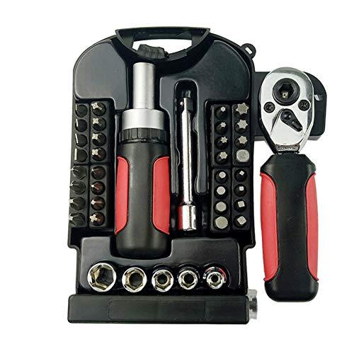 Gaocunh 40pcs Steckschlüsselsatz Auto Repair Tool Auto Ratsche Drehmomentschlüssel Combo Kit