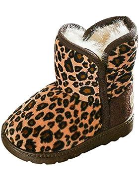 CHIC-CHIC Mädchen Schlupfstiefel Leopard Stiefel Kinder Kleinkind Warm Weiche Sohlen Schuhe Winter weiche Winterschuhe...